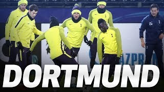 BEHIND-THE-SCENES | Spurs travel to and train in Dortmund