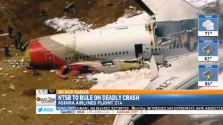NTSB Meets Today to Rule on Asiana Flight 214 Crash