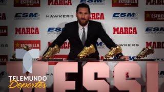 Lionel Messi ya tiene más Botas de Oro que Cristiano Ronaldo | Telemundo Deportes
