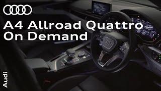 The Audi A4 allroad quattro: All-wheel drive on demand.