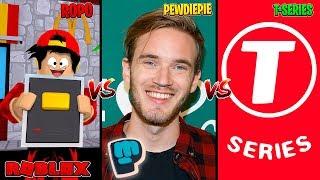 ROBLOX - ROPO vs PEWDIE PIE vs T-SERIES!!