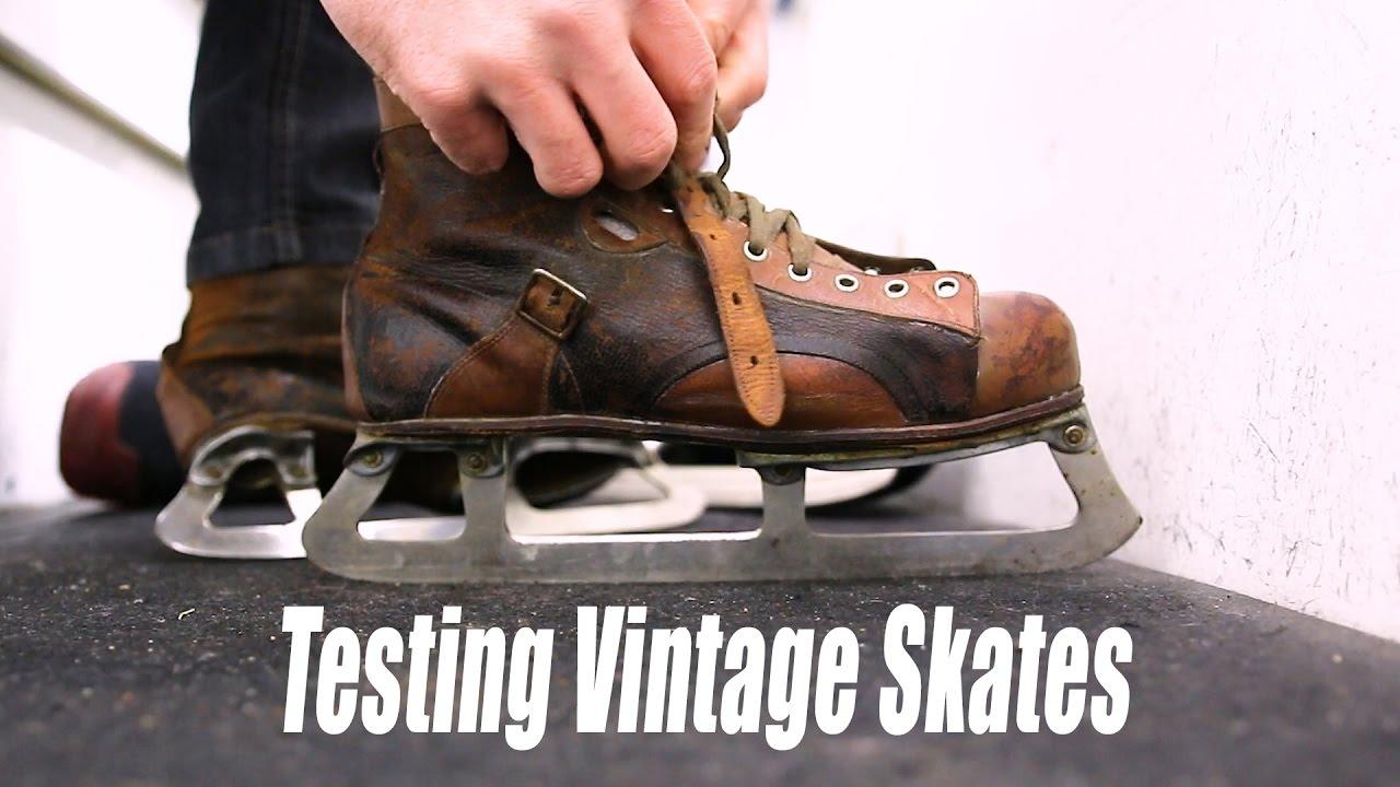 Testing Out Vintage Hockey Skates Youtube