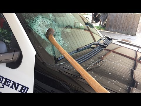 Man attacks Keene Police patrol units with axe