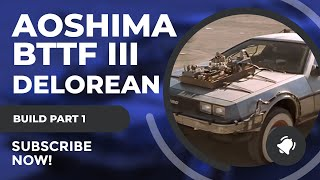 Aoshima 1//24 Scale Back to The Future Delorean from Part I Plastic Model Buiding Set # 59166