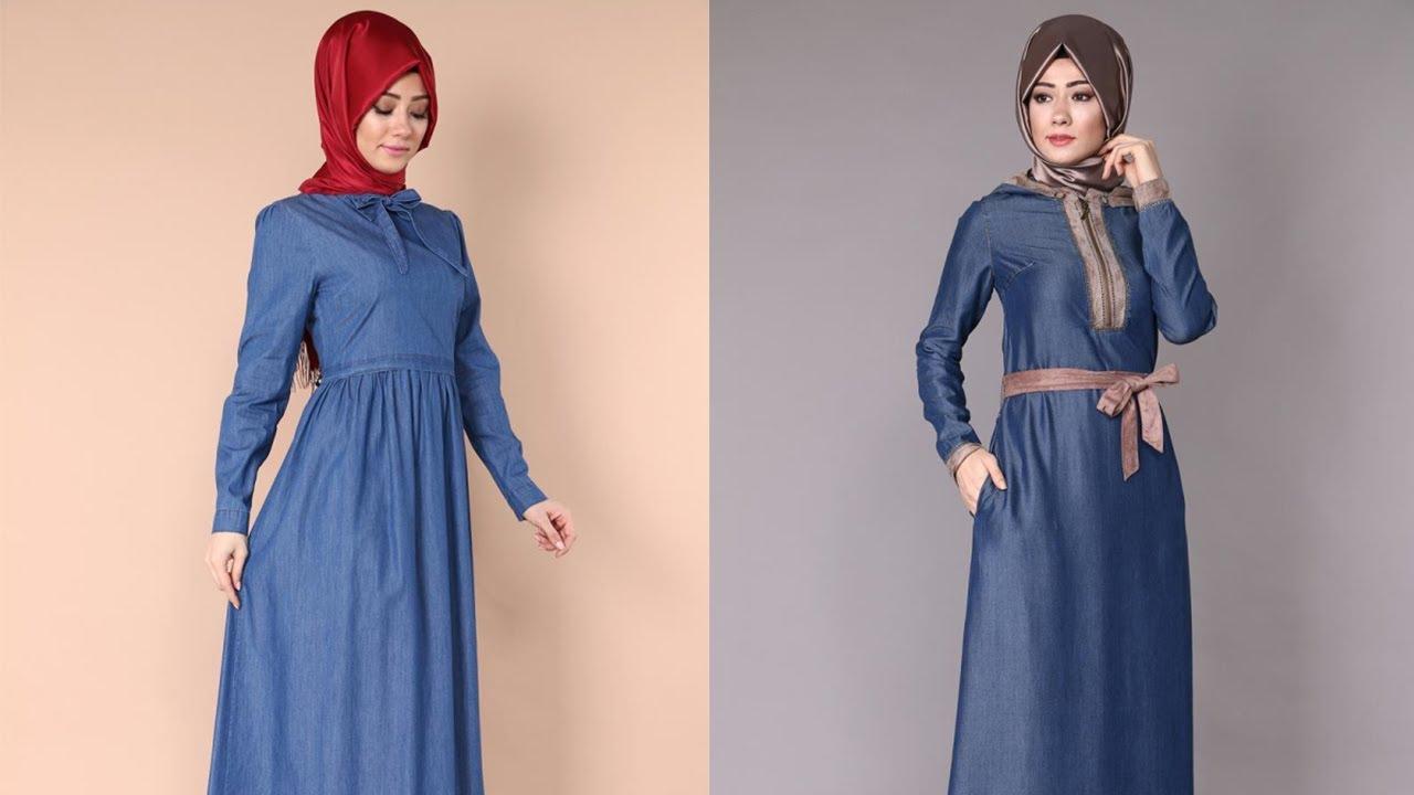 Yeni moda kot elbise modelleri