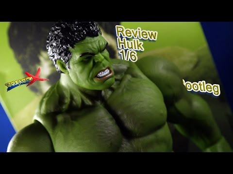 Review Hot Toys Hulk 1/6 Pirata KnockOff Bootleg Action Figure 42cm Avengers Revision Español