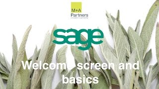 Sage - Welcome and Intro