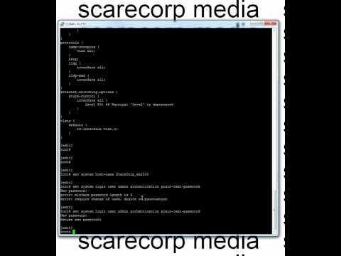 Juniper EX2200 Lesson (Basic)