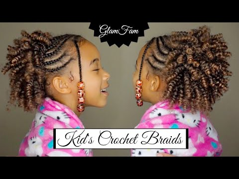 Natural Looking Crochet Hairstyle for Kids