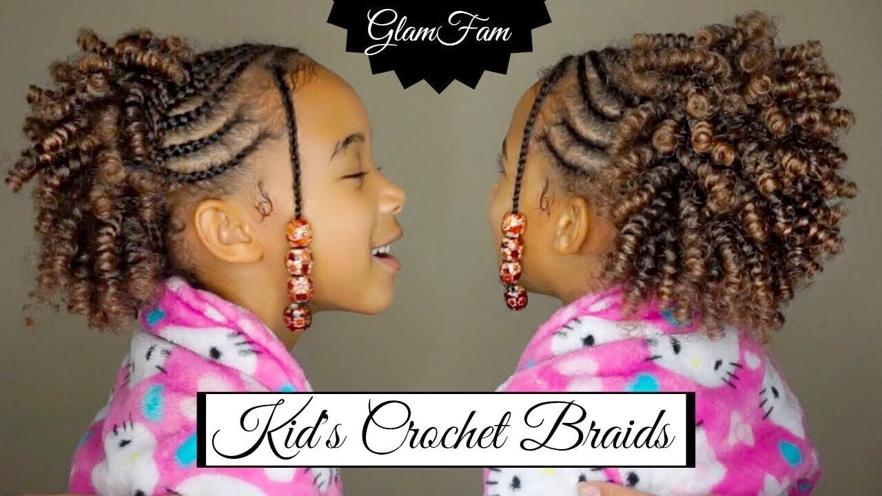 Hair Styles For Braids Pictures: Natural Looking Crochet Hairstyle For Kids
