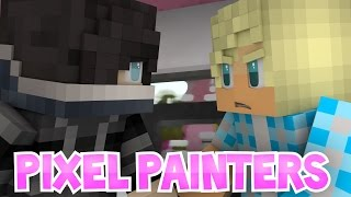 Zane, Aphmau, and Garroth's Friendship in Pixel Painters! | Roleplay Minigames!
