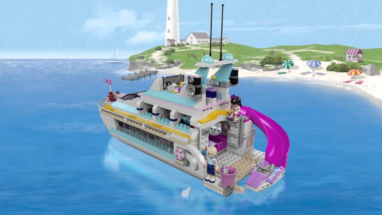 Lego Friends - 41015 Dolfijn Cruiser - YouTube