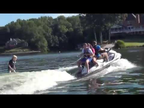 Year Old Gunnar Wakesurfing Attempted Behind Sea Doo Jet Ski