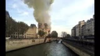 STILLS Fire engulfs Notre Dame cathedral