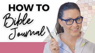 HOW TO BIBLE JOURNAL FOR BEGINNERS & CHRISTIAN JOURNALING - WATCH ME WRITE! | DAILY DEVOTIONAL