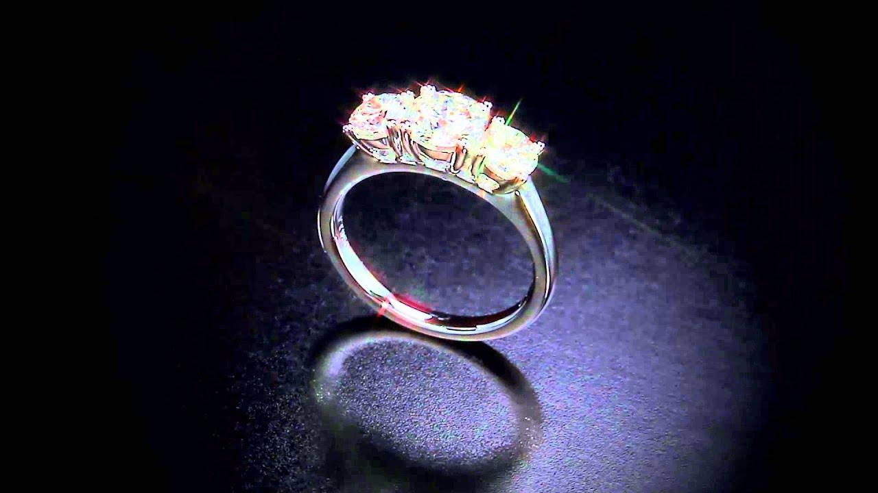 28e9c2819 Three-Stone Round Brilliant Diamond Ring (1.50 ctw) Platinum ...