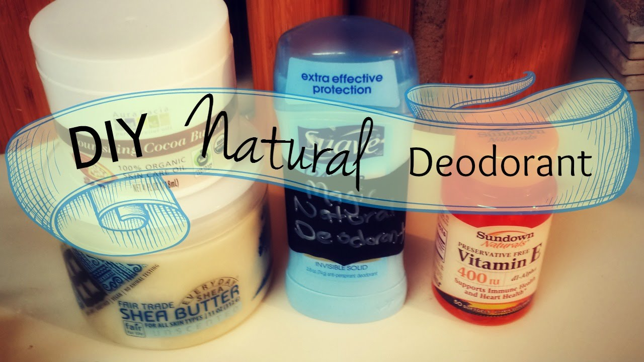 DIY Natural Deodorant Recipe without