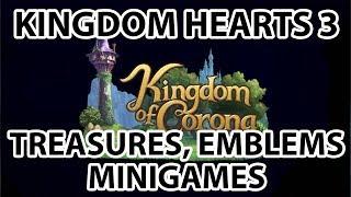 [Kingdom Hearts 3]Kingdom of Corona - All Treasures, Lucky Emblems and Minigames