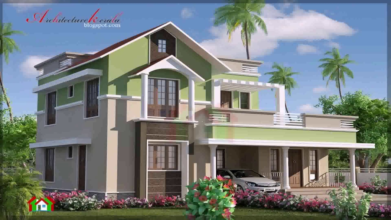 Contemporary Style House Elevation - YouTube