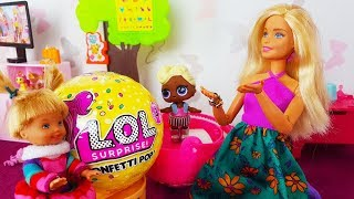 Rodzinka Barbie - Kaja dorasta!? Nowy wygląd lol surprise confetti pop bajki dla dzieci
