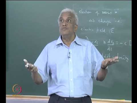 Mod-01 Lec-10 The Free Electron Theory of Metals - Electrical Conductivity