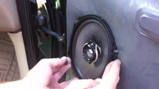 2002 f150 removing door panel replacing speakers
