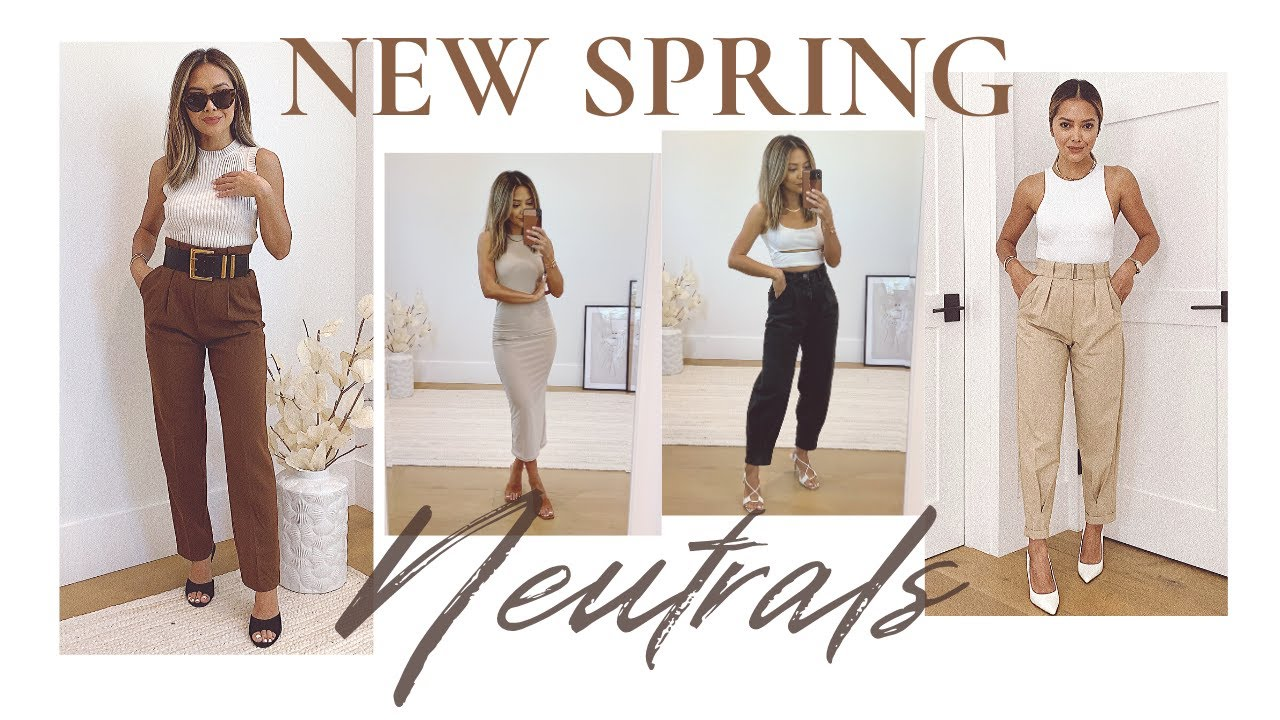 More New Additions To My Closet | Spring Neutrals 2020 | Mango, Bershka, Nasty Gal