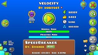 Velocity By: Doritos1 Easy Demon Geometry Dash 2.13