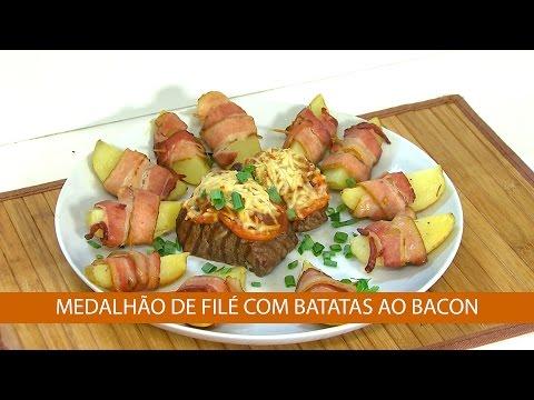MEDALHÃO DE FILÉ COM BATATAS AO BACON