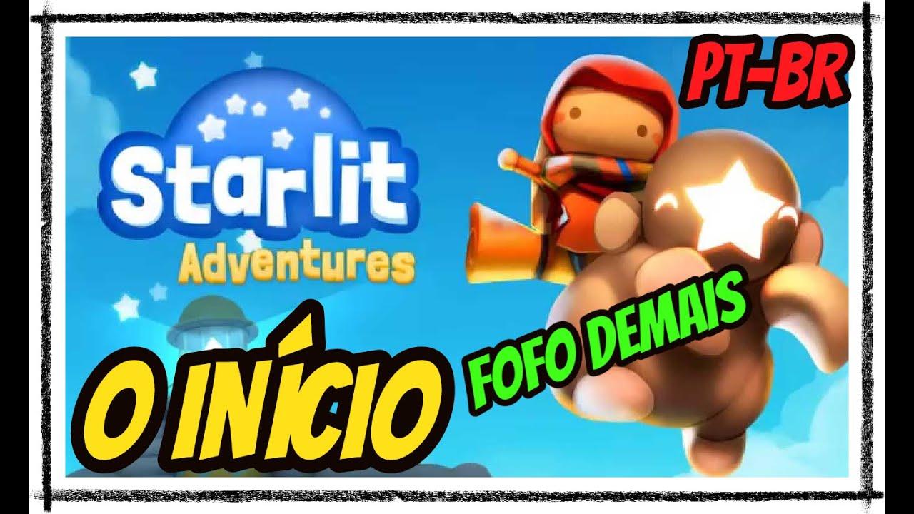 Starlit Adventures Gameplay, O Início em Português - PT-BR (Jogo Gratuito) Fofo Demais