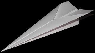 Как сделать самолет из бумаги который долго летает.
