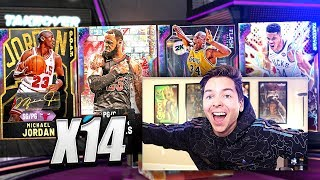 *14* GALAXY OPAL PULLS! GREATEST NBA 2K20 PACK OPENING!