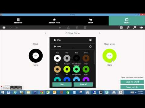 Cube 3 Printing Software Overview