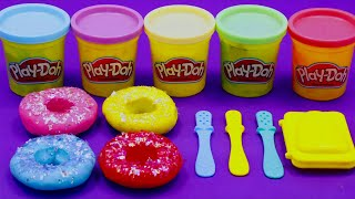 Learn  Colors Play Doh in Donuts withKidSongs | Surprise Toy Eggs,Kinder Joy