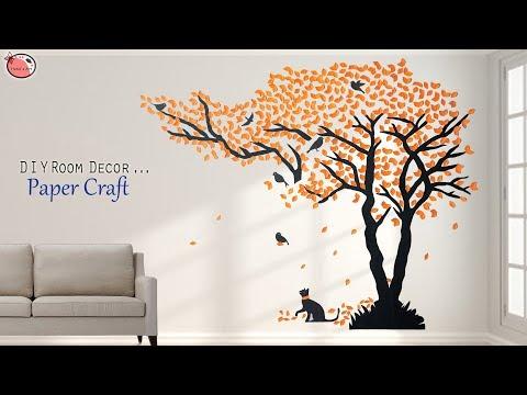 Wall Art Design !!! Genius... DIY Wall Sticker Making From Paper !!!