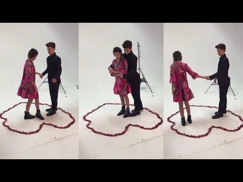 [BEHIND THE SCENES] Hayden Teaching Annie How To Dance - TigerBeat