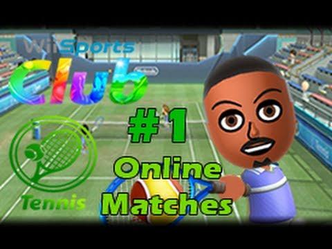 Wii Sports Club Wii U (1080p) Tennis Online Matches #1
