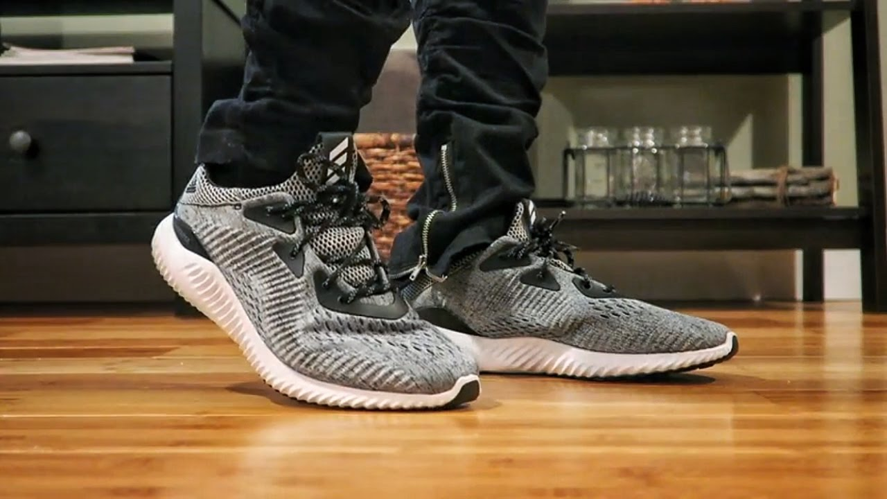 21dd917727884 adidas Alphabounce Engineered Mesh ON FEET - YouTube