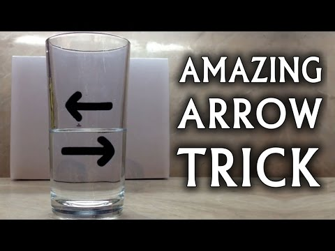 Watch A Glass Of Water Make These Arrows Change Direction