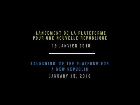 The Platform for a New Republic - La Plateforme pour Une Nouvelle République
