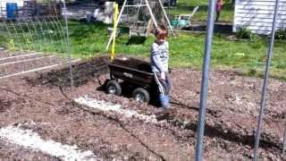 Tomato Bed Prep And The Metal Conduit Trellis