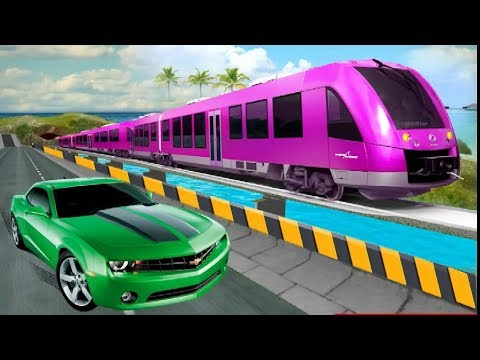 CAR Vs TRAIN High Speed Racing Game #001 - Free Train Car Racing Games To Play Now - Download Games