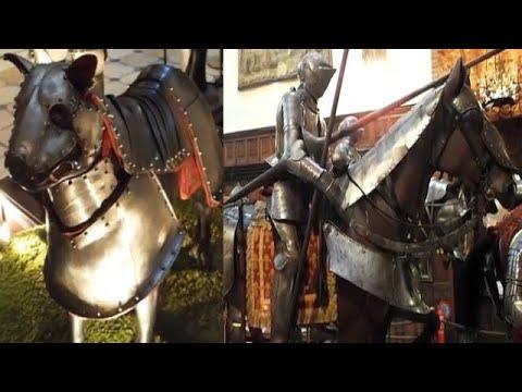 armaduras-medievais-de-homem-e-cachorro-de-mil-anos-da-europa
