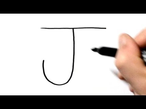 How To Draw A Jellyfish After Writing Letter J - LetterToons