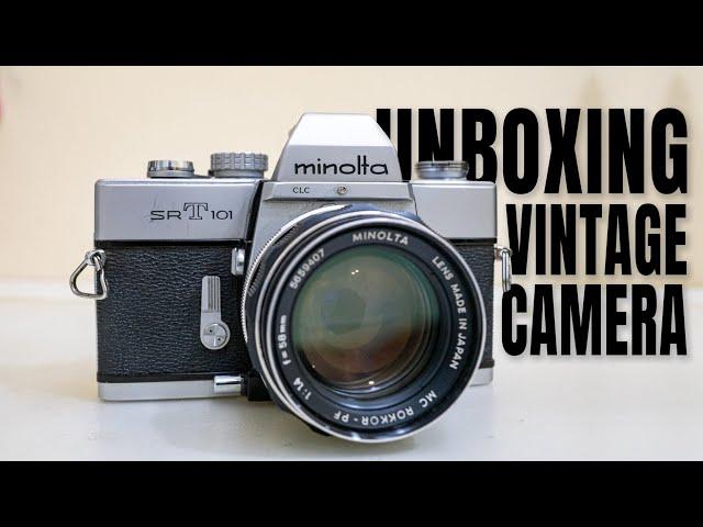 【开箱】Unboxing Vintage Film Camera - Minolta SRT 101 made in Japan 1962
