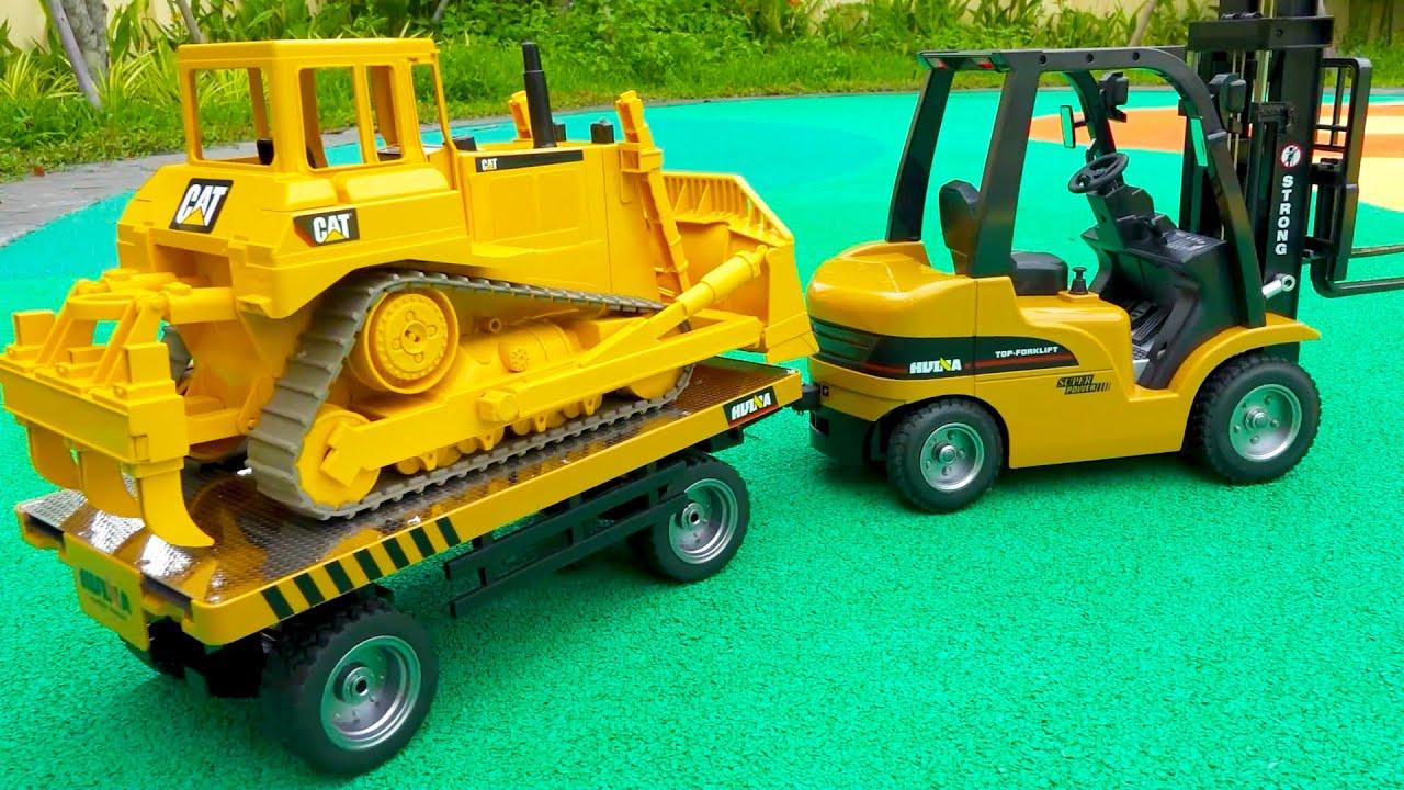 트럭 중장비 자동차 장난감 포크레인 지게차 트럭놀이 Excavator Truck Car Toy Play