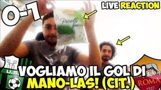 """""""vogliamo il gol di manolas"""" colpisce ancoraaa!! sassuolo-roma 0-1 [live reaction]"""