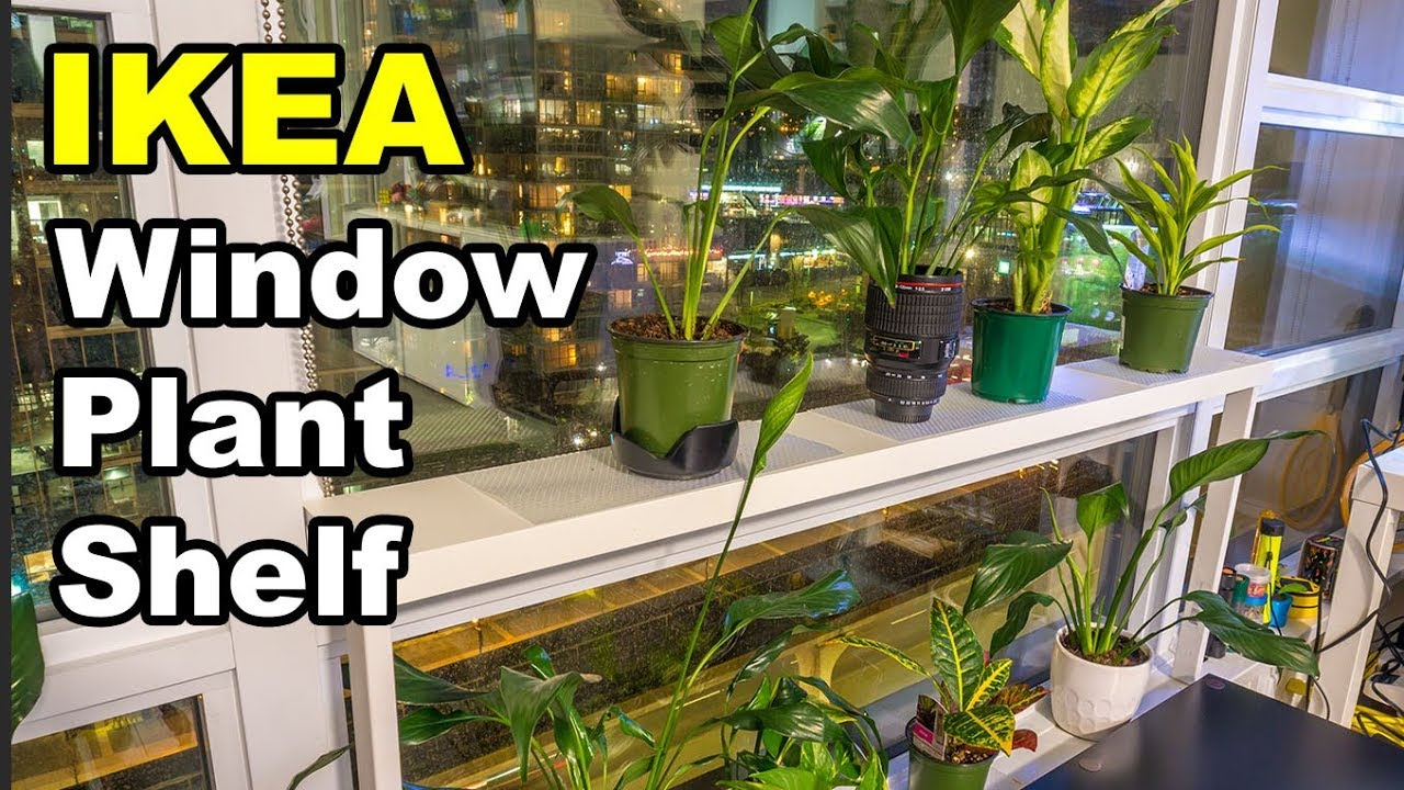 window sill ledge shelf for plants youtube. Black Bedroom Furniture Sets. Home Design Ideas