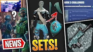 Fortnite News | Winter Skins NEW INFO, Leaked Skin at Event, New Wraps, Week 3 Challenges & More!