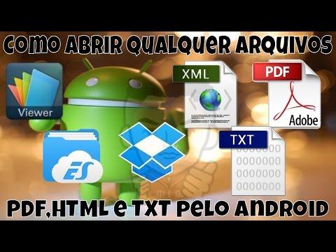 Como Abrir Qualquer Arquivos PDF,HTML E TXT Pelo Android